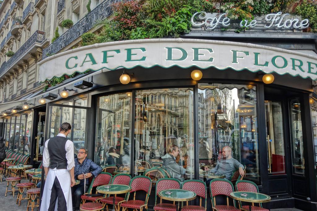 Caféde Flore, one of Paris's most well-known cafes. Image Credit: Flickr/drburtoni