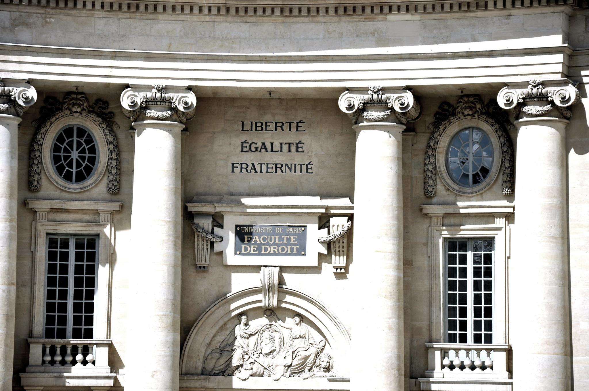 Liberte, Egalite, Fraternite. Image credit: Easal on Creative Commons.