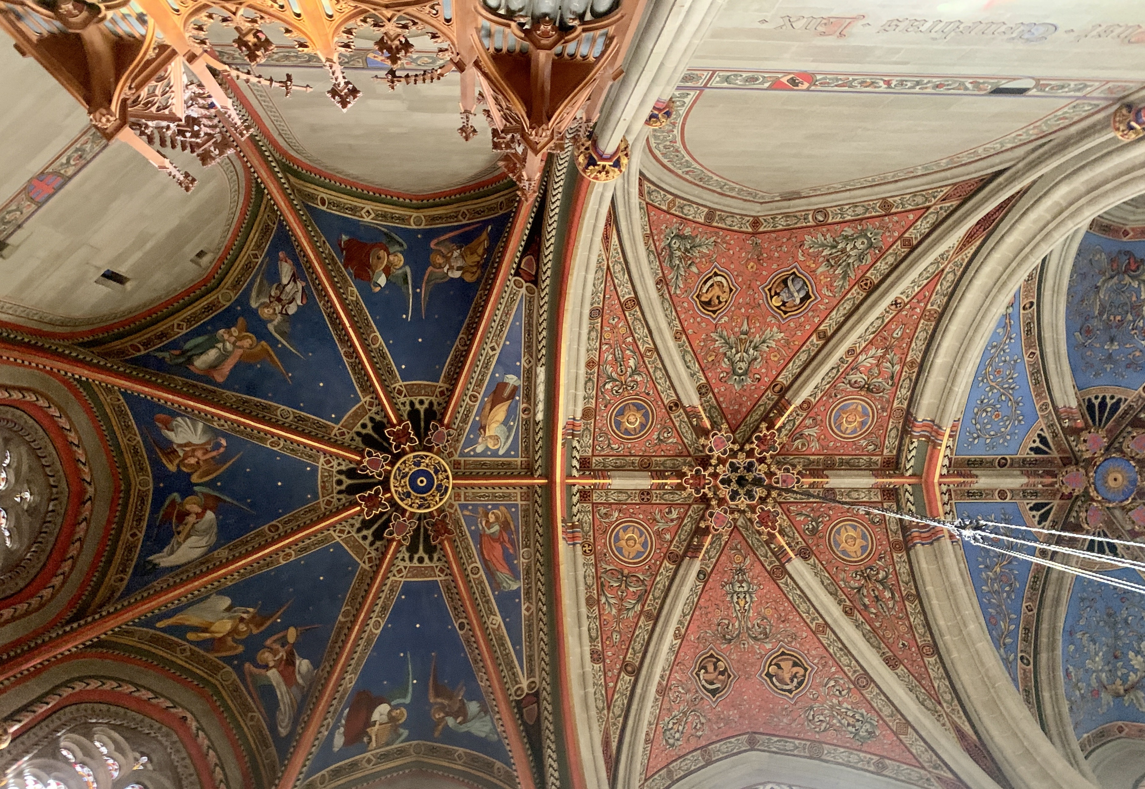 Ceiling at the Chapel of the Maccabees