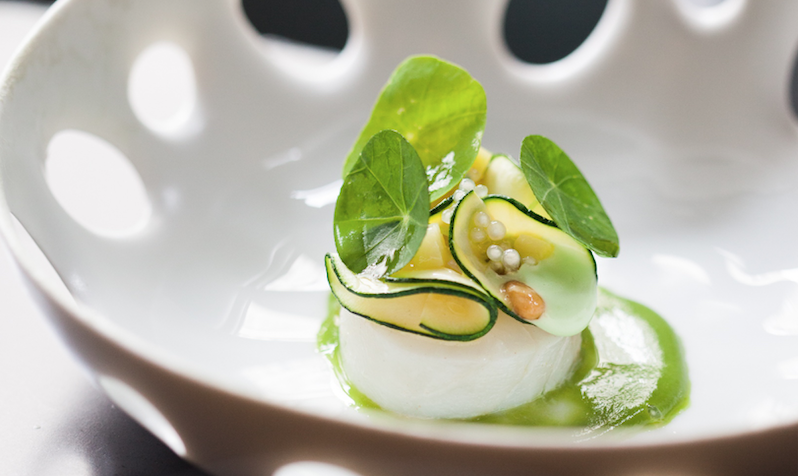 Scallop in sauce