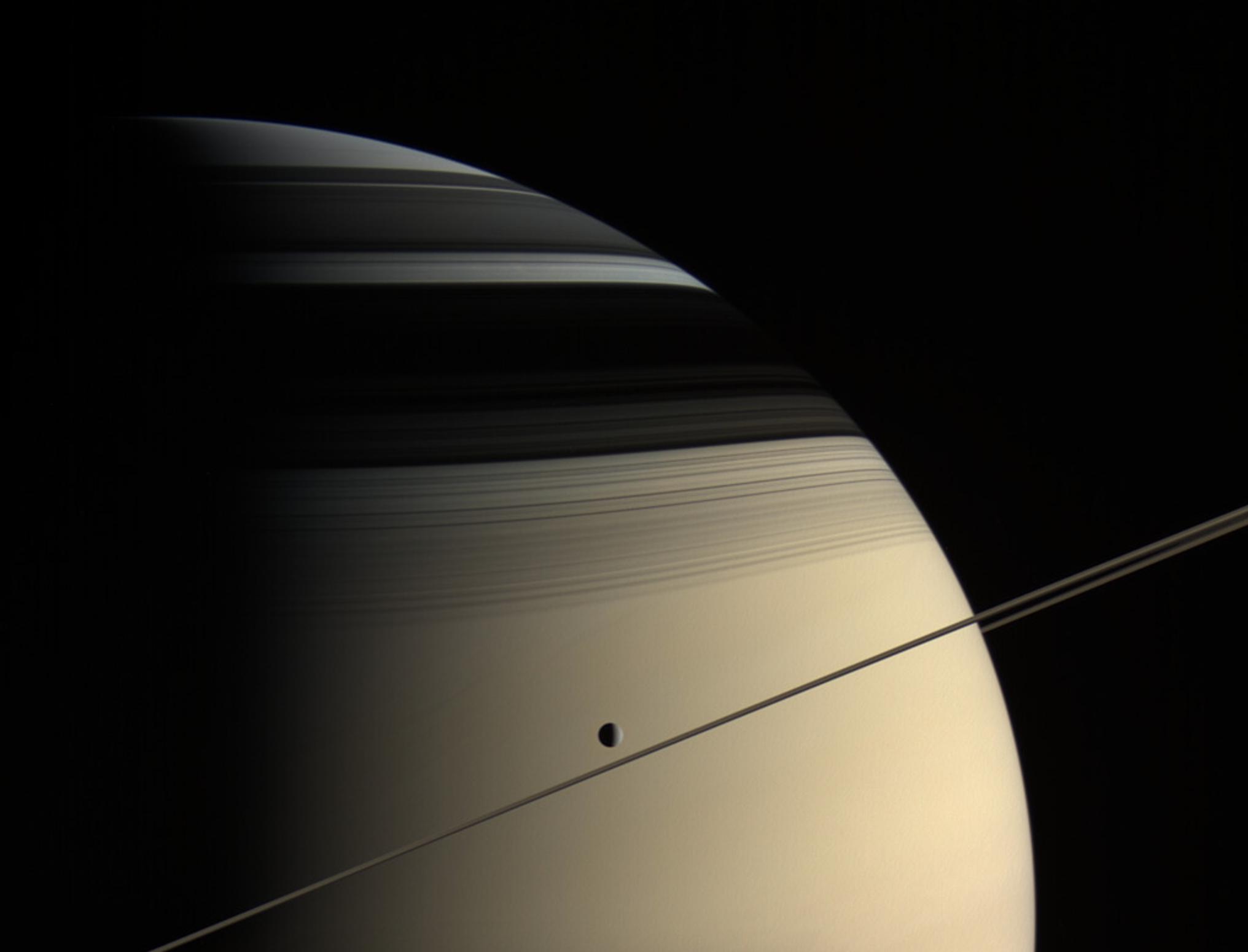 Saturn and Dione