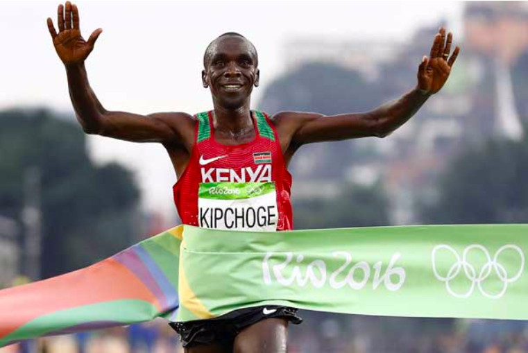 Eliud Kipchoge is driven by self believe and the power of the mind./Image Credit: CNN