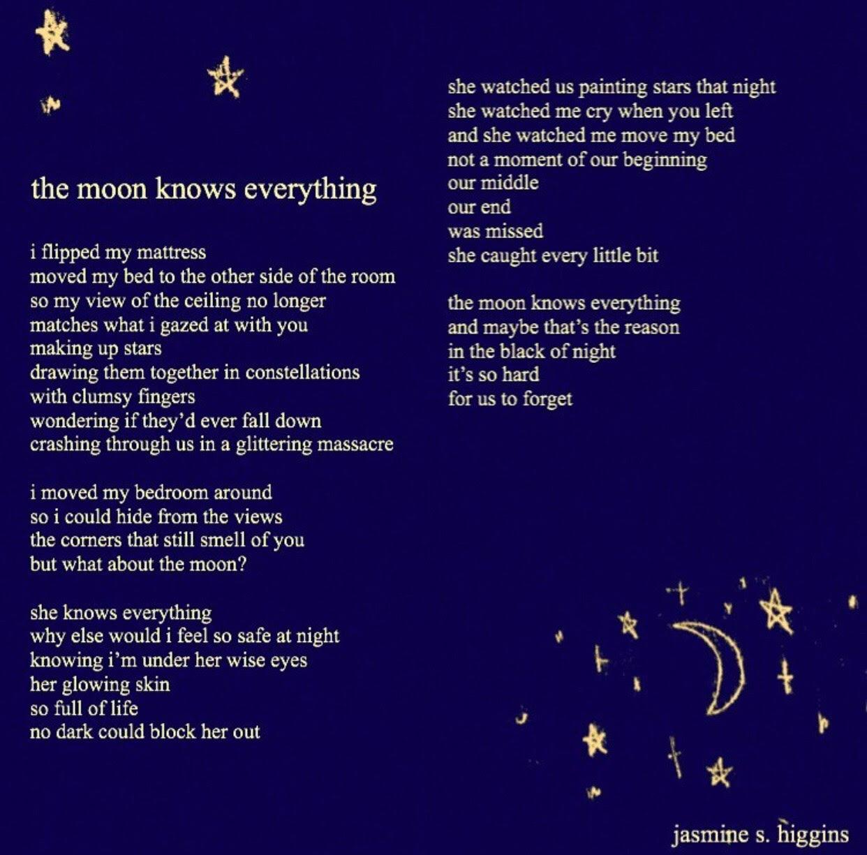 A poem written by @jasmine.s.higgins on instagram