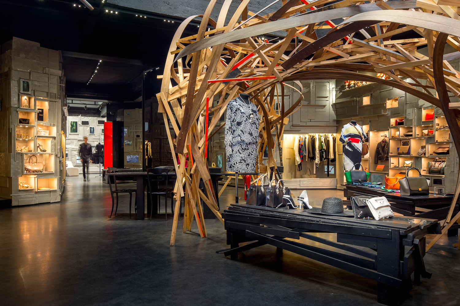 Convergence of metal and wood. Image Credit: Business of Fashion.com
