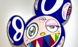 Takashi Murakami, Baka, at Gallery Perrotin in Paris. Image Credit/Liza Cameron