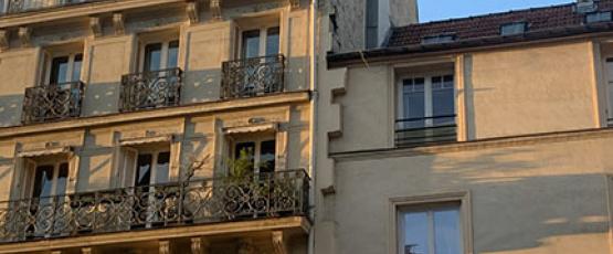 A Parisian Street at Dusk
