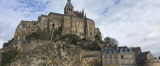 Exterior View of Mont Saint Michel