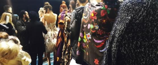 Backstage at Paris Haute Couture Fashion Week 2012