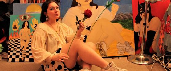 Sabrina Lee, aka Moldy Smith, brings one of her self portraits to life.