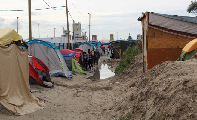 The 'Calais Jungle' Refugee Camp in 2016. Image Credit: Forrest Crellin