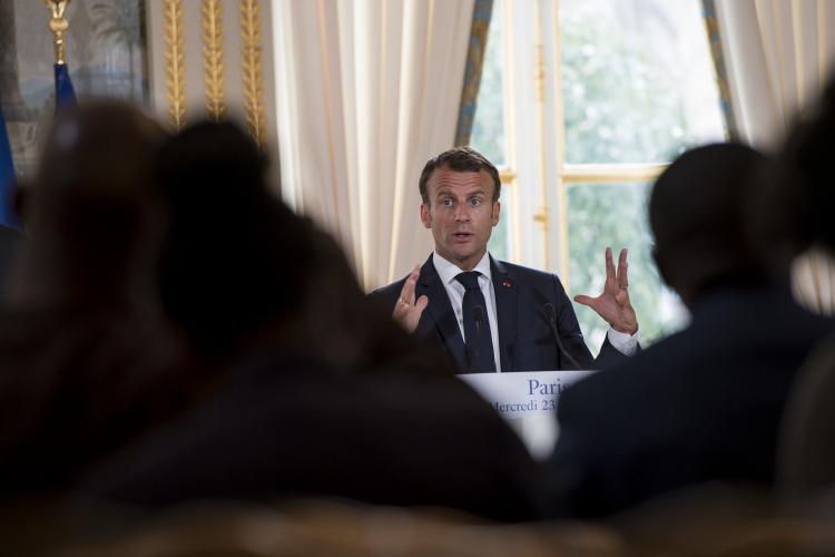 President Macron. Image credit: Paul Kagame on Creative Commons.