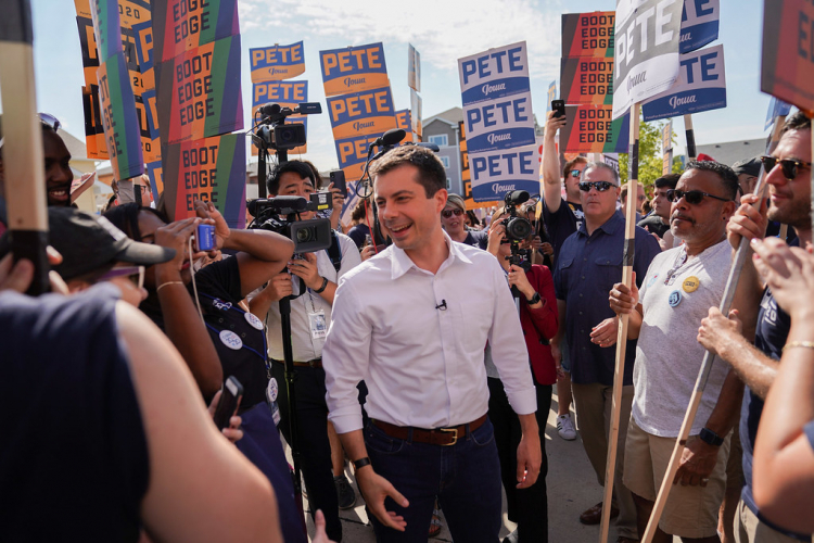 U.S. presidential candidate Pete Buttigieg, highly popular among democratic voters, campaigns in Iowa. Image Credit: Flickr/Pete for America