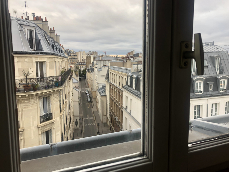 A view of Paris's streets during lockdown. Image Credit: Amy Thorpe