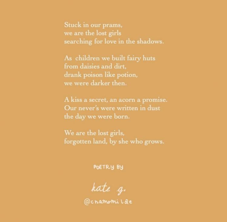 A poem written by @chamomilde on Instagram.